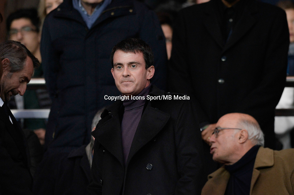Manuel VALLS   - 20.12.2014 - Paris Saint Germain / Montpellier - 17eme journee de Ligue 1 -<br />Photo : Aurelien Meunier / Icon Sport