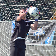 Goldey-Beacom Keeper Ignacio Farias (00) attempts a save during a NCAA regular season match against Wilmington University Wednesday, Sept. 12, 2012. at Kirkwood Soccer Complex...Special to Monsterphoto/SAQUAN STIMPSON