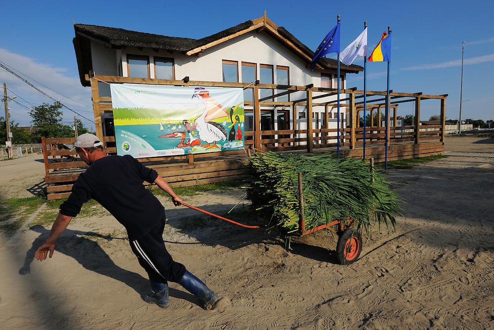 The Danube delta Biosphere reserve info centre, Sfinthu Gheorghe, Danube delta rewilding area, Romania