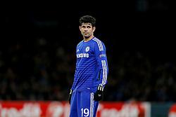 Diego Costa of Chelsea looks on - Photo mandatory by-line: Rogan Thomson/JMP - 07966 386802 - 10/12/2014 - SPORT - FOOTBALL - London, England - Stamford Bridge - Sporting Clube de Portugal - UEFA Champions League Group G.