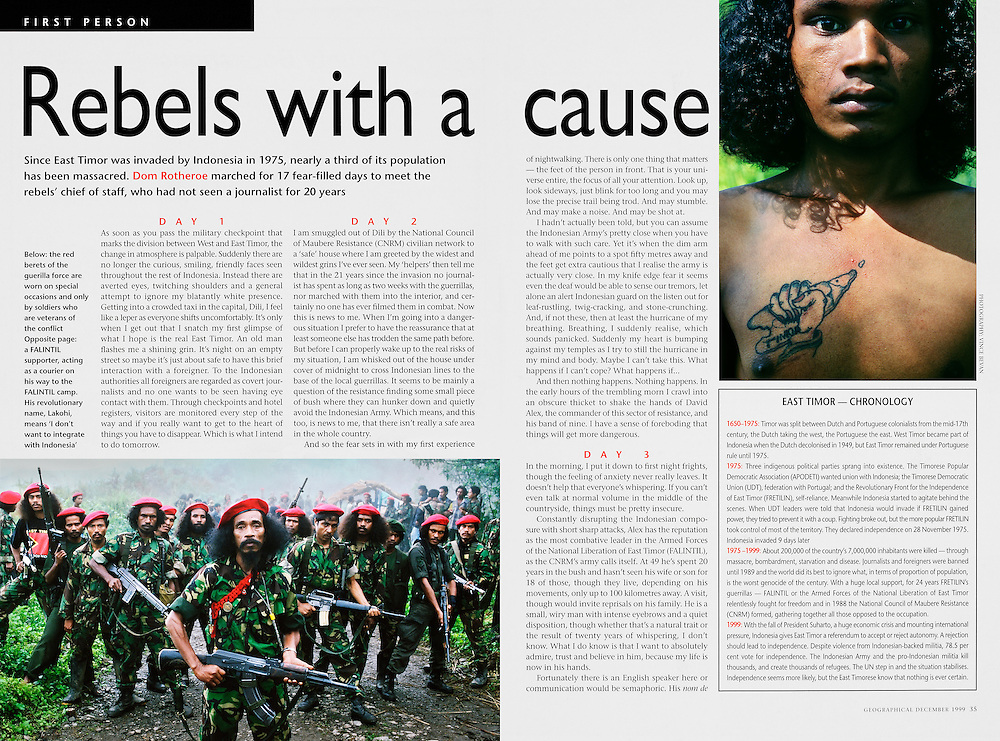 Geographical Magazine - East Timor