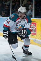 KELOWNA, CANADA -FEBRUARY 5: Rourke Chartier #14 of the Kelowna Rockets skates behind the net against the Kelowna Rockets on February 5, 2014 at Prospera Place in Kelowna, British Columbia, Canada.   (Photo by Marissa Baecker/Getty Images)  *** Local Caption *** Rourke  Chartier;