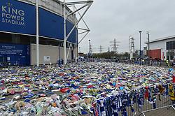 The KP Stadium has become a shrine to the achievements of Vichai Srivaddhanaprabha (c) Simon Kimber   SportPix.org.uk