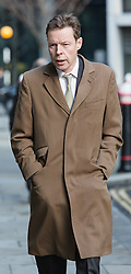 © Licensed to London News Pictures. 08/12/2015. London, UK.  GEORGE BINGHAM, the son of Lord Lucan, arrives at the High Court (Rolls Building) in London for a hearing to deal with preliminary issues in his bid to obtain a death certificate for his father, Lord Lucan who disappeared over 40 years ago. Lord Bingham has applied to the court under the Presumption of Death Act, so he can inherit the title as eighth earl.  Photo credit : Vickie Flores/LNP