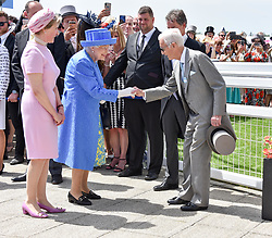 HM The Queen and Sir Lester Piggott at the 2d day of The Investec Derby Festival - Derby Day, Epsom Racecourse, Epsom, Surrey, UK. 01 June 2019.