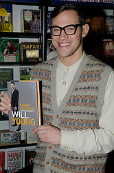 """© Licensed to London News Pictures. 19/10/2012.Singer Will Young at Waterstones book store in the  Bluewater shopping complex in Kent (today 19/10/2012) to sign copies of his new book  """"Funny Peculiar """" The autobiography..Photo credit : Grant Falvey/LNP"""
