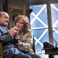 The Lyceum present the World Premiere of Pressure<br /> By David Haig<br /> <br /> Picture shows : Laura Rogers as  Kay Summersby and<br />  David Haig – Group Captain Dr. James Stagg <br /> <br /> <br /> Picture : Drew Farrell<br /> Tel : 07721 -735041<br /> www.drewfarrell.com<br /> 