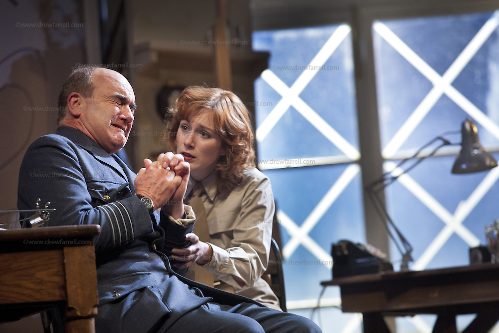 The Lyceum present the World Premiere of Pressure<br /> By David Haig<br /> <br /> Picture shows : Laura Rogers as  Kay Summersby and<br />  David Haig &ndash; Group Captain Dr. James Stagg <br /> <br /> <br /> Picture : Drew Farrell<br /> Tel : 07721 -735041<br /> www.drewfarrell.com<br /> Directed by John Dove<br /> A co-production with Chichester Festival Theatre<br /> June 1944. One man's decision is about to change the course of history.<br /> <br /> Cast<br /> David Haig &ndash; Group Captain Dr. James StaggLaura Rogers &ndash; Kay SummersbyRobert Jack &ndash; AndrewAnthony Bowers &ndash; Lieutenant Battersby/ Captain JohnsScott Gilmour &ndash; Young Naval RatingMalcolm Sinclair &ndash; General Dwight D &ldquo;Ike&rdquo; EisenhowerTim Beckmann &ndash; Colonel Irving P. KrickMichael Mackenzie &ndash; Electrician/Admiral Bertram &ldquo;Bertie&rdquo; RamsayAlister Cameron &ndash; Air Chief Marshall Sir Trafford Leigh-MalloryGilly Gilchrist &ndash; General &ldquo;Tooey&rdquo; Spaatz/Commander Franklin<br /> Creative Team<br /> Director - John DoveDesigner - Colin RichmondLX Designer - Tim MitchellDeputy LX Designer - Guy JonesComposer/Sound Design - Philip PinskyVideo Designer - Andrzej Goulding&nbsp;&nbsp;<br /> An intense real-life thriller centred around the most important weather forecast in the history of warfare.Scottish meteorologist, Group Captain James Stagg, the son of a Dalkeith plumber, must advise General Eisenhower on when to give the order to send thousands of waiting troops across the Channel in Operation Overlord.In what became the most volatile period in the British Isles for over 100 years, the future of Britain, Europe and our relationship with the United States, rested on the shoulders of one reluctant Scotsman.<br /> Pressure is the extraordinary and little known story of a Scot who changed the course of war, and our lives, forever.David Haig is a four time nominee and Olivier Award winning actor best known for his roles in the film Four Wedd
