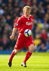 BIRMINGHAM, ENGLAND - Sunday, April 4, 2010: Liverpool's Dirk Kuyt in action against Birmingham City during the Premiership match at St Andrews. (Photo by David Rawcliffe/Propaganda)