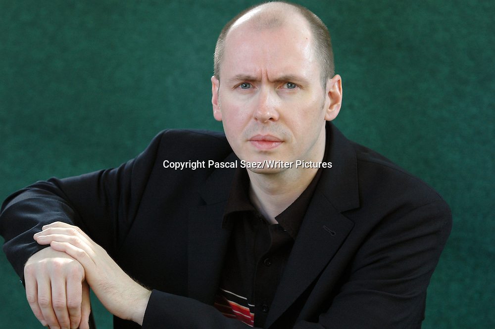 British writer David Peace at the Edinburgh International Book Festival.<br /> <br /> Copyright Pascal Saez/Writer Pictures<br /> <br /> contact +44 (0)20 8241 0039<br /> sales@writerpictures.com<br /> www.writerpictures.com