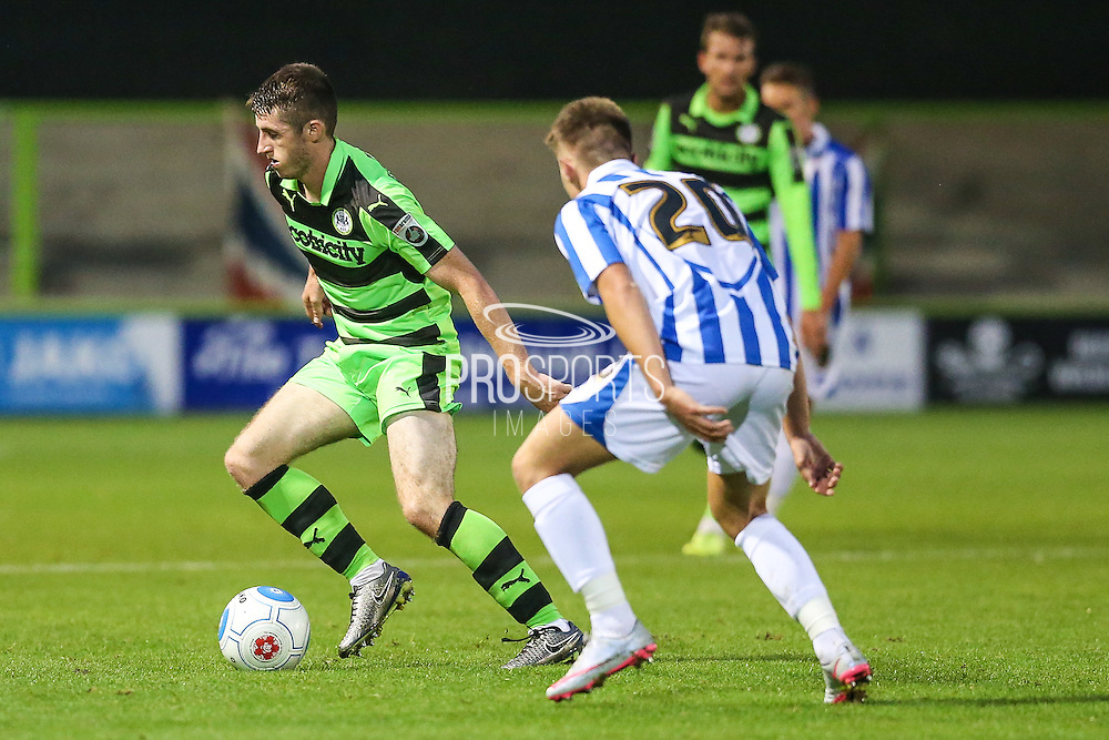 Forest Green Rovers Louis McGrory (22)  during the Gloucestershire Senior Cup match between Forest Green Rovers and Cheltenham Town at the New Lawn, Forest Green, United Kingdom on 20 September 2016. Photo by Shane Healey.