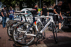 Pinarello bikes of Team Wiggins at the team buses during the Arnhem Veenendaal Classic at Arnhem, Gelderland, The Netherlands, 19 August 2016.<br /> Photo by Pim Nijland / PelotonPhotos.com | All Rights Reserved