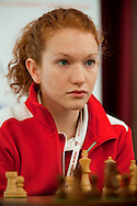 Anna Iwanow from Poland during European Team Chess Championships 2013 at Novotel Hotel in Warsaw on November 10, 2013.<br /> <br /> Poland, Warsaw, November 10, 2013<br /> <br /> Picture also available in RAW (NEF) or TIFF format on special request.<br /> <br /> For editorial use only. Any commercial or promotional use requires permission.<br /> <br /> Mandatory credit:<br /> Photo by © Adam Nurkiewicz / Mediasport