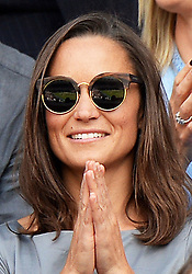 Image licensed to i-Images Picture Agency. 06/07/2014. London, United Kingdom. Pippa Middleton  at the Wimbledon Men's Final.  Picture by Andrew Parsons / i-Images