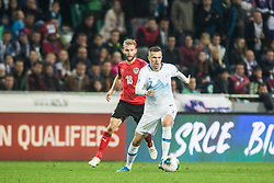ILICIC Josip of Slovenia vs LAIMER Konrad of Austria during the 2020 UEFA European Championships group G qualifying match between Slovenia and Austria at SRC Stozice on October 13, 2019 in Ljubljana, Slovenia. Photo by Peter Podobnik / Sportida