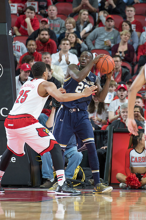 Notre Dame guard Jerian Grant. <br /> <br /> The University of Louisville hosted Notre Dame, Wednesday, March 04, 2015 at Yum Center in Louisville. <br /> <br /> Photo by Jonathan Palmer