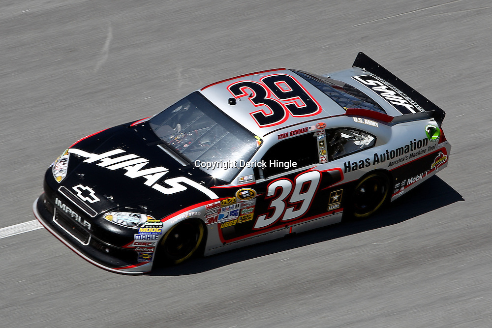April 17, 2011; Talladega, AL, USA; NASCAR Sprint Cup Series driver Ryan Newman (39) during the Aarons 499 at Talladega Superspeedway.   Mandatory Credit: Derick E. Hingle
