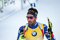 10.03.2016, Holmenkollen, Oslo, NOR, IBU Weltmeisterschaft Biathlon, Oslo, 20 km, Herren, im Bild Martin Fourcade (FRA) // during Mens 20 km individual Race of the IBU World Championships at the Holmenkollen in Oslo, Norway on 2016/03/10. EXPA Pictures © 2016, PhotoCredit: EXPA/ Pressesports/ MONS FREDERIC<br /> <br /> *****ATTENTION - for AUT, SLO, CRO, SRB, BIH, MAZ, POL only*****