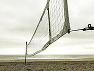 Beach Volley Ball Net on a Gray Day.