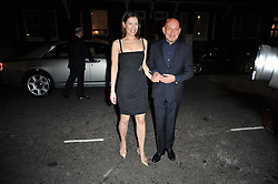 SIR BEN KINGSLEY and his wife DANIELA LAVENDER at a party following a gala evening of Daniela Lavender's one woman show 'A Woman Alone'  The party was held at Blakes Hotel, Roland Gardens, London SW7 on 7th April 2011.