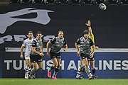 Dan Evans scores the Ospreys second try during the European Rugby Challenge Cup match between Ospreys and ASM Clermont Auvergne at The Liberty Stadium, Swansea on 15 October 2017. Photo by Andrew Lewis.