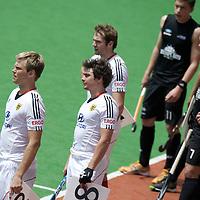 MELBOURNE - Champions Trophy men 2012<br /> Germany v New Zealand <br /> foto: Wissels met Moritz Furste vooraan.<br /> FFU PRESS AGENCY COPYRIGHT FRANK UIJLENBROEK