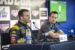 April 28, 2018 - Talladega, Alabama, United States of America - Matt DiBenedetto (32) announces that Zynga Poker will sponsor his car for 7 races at Talladega Superspeedway in Talladega, Alabama. (Credit Image: © Justin R. Noe Asp Inc/ASP via ZUMA Wire)