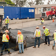 Paving of San Diego Veladrome in Balboa Park, photographed for Hazard Construction Inc.