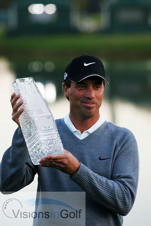 Stephen Ames with the trophy after winning <br /> THE PLAYERS Championship at TPC Sawgrass GC, Stadium, Ponte Vedra, Jacksonville, Florida USA. 26th March 2006. Day 4 final day<br /> Picture Credit:   Mark Newcombe / visionsingolf.com