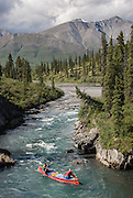 Canada, Mountain River, Northwest Territories, canoe trip (near the Arctic Circle)