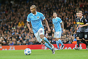 Manchester City midfielder Fernandinho  during the Champions League match between Manchester City and Borussia Monchengladbach at the Etihad Stadium, Manchester, England on 8 December 2015. Photo by Simon Davies.