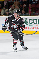 KELOWNA, CANADA -FEBRUARY 5: Aspen Sterzer C #24 of the Red Deer Rebels skates against the Kelowna Rockets on February 5, 2014 at Prospera Place in Kelowna, British Columbia, Canada.   (Photo by Marissa Baecker/Getty Images)  *** Local Caption *** Aspen Sterzer;