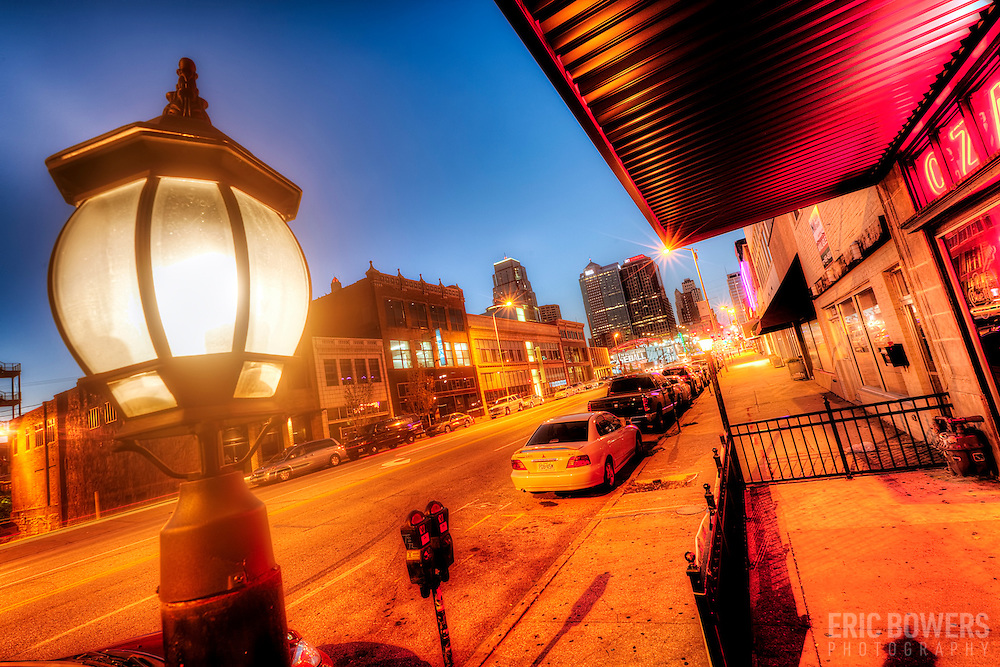 Along Grand Avenue down the street from Truman Rd, downtown Kansas City, Missouri.