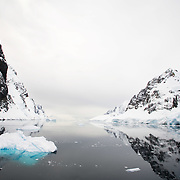 Sailing through the ice flows of Antarctica on the Ocean Nova.