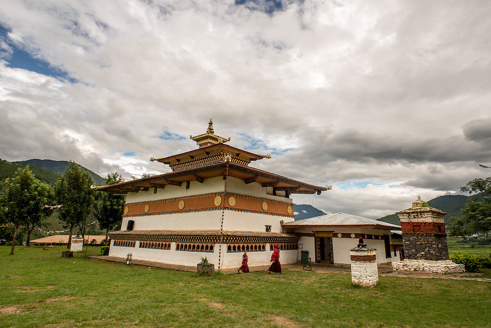 Bhutan, temple <br />