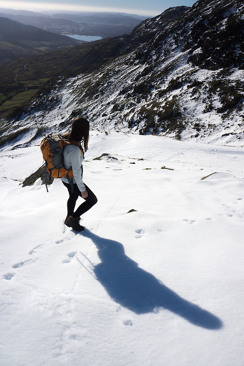 Red Screes,Kirkstone Pass in winter snow