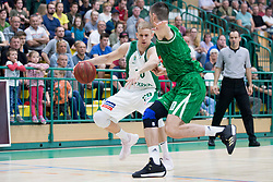 Maj Kovacevic of KK Krka during basketball match between KK Krka Novo mesto and  KK Petrol Olimpija in 2nd Final game of Liga Nova KBM za prvaka 2017/18, on May 22, 2018 in Sports hall Leona Stuklja, Novo mesto, Slovenia. Photo by Urban Urbanc / Sportida