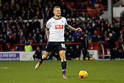 Bolton Wanderers defender David Wheater pulls up with a hamstring injury during the Sky Bet Championship match between Nottingham Forest and Bolton Wanderers at the City Ground, Nottingham, England on 16 January 2016. Photo by Alan Franklin.