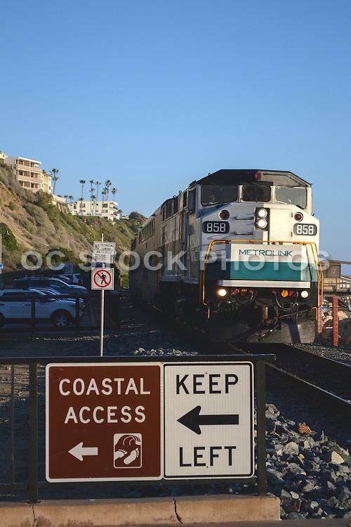 North Beach Metro Link Commuter Rail System San Clemente California