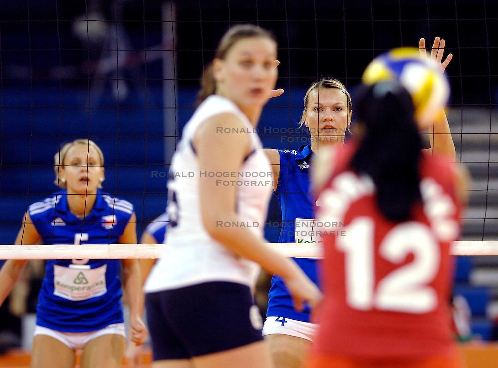 10-11-2007 VOLLEYBAL: PRE OKT: TSJECHIE - AZERBEIDZJAN: EINDHOVEN<br /> Tsjechie wint met 3-1 van Azerbeidzjan / Monika Kucerova<br /> &copy;2007-WWW.FOTOHOOGENDOORN.NL