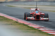 February 19, 2013 - Barcelona Spain. Fernando Alonso, Scuderia Ferrari  during pre-season testing from Circuit de Catalunya.
