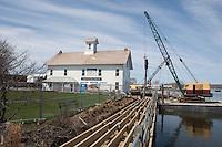 Dock Repairs, Steamboat Dock, Connecticut River Museum, Essex, CT.