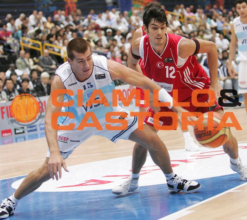 DESCRIZIONE : Saitama Giappone Japan Men World Championship 2006 Campionati Mondiali Argentina-Turkey <br /> GIOCATORE : Gonlum Wolkowiski <br /> SQUADRA : Turkey Turchia <br /> EVENTO : Saitama Giappone Japan Men World Championship 2006 Campionato Mondiale Argentina-Turkey <br /> GARA : Argentina Turkey Argentina Turchia <br /> DATA : 29/08/2006 <br /> CATEGORIA : Palleggio <br /> SPORT : Pallacanestro <br /> AUTORE : Agenzia Ciamillo-Castoria/M.Kulbis <br /> Galleria : Japan World Championship 2006<br /> Fotonotizia : Saitama Giappone Japan Men World Championship 2006 Campionati Mondiali Argentina-Turkey <br /> Predefinita :