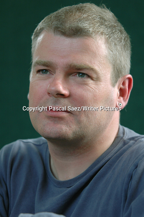 Writer Mark Haddon, author of &quot;The Curious Incident Of The Dog At Night Time&quot;, and &quot;A Spot Of Bother&quot;, at the Edinburgh International Book Festival.<br /> <br /> Copyright Pascal Saez/Writer Pictures<br /> <br /> contact +44 (0)20 8241 0039<br /> sales@writerpictures.com<br /> www.writerpictures.com