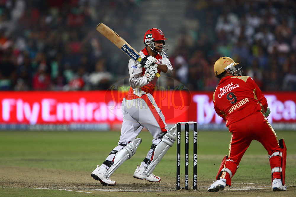 DURBAN, SOUTH AFRICA - 1 May 2009.Pathan watches this one go during the IPL Season 2 match between Kings X1 Punjab and the Royal Challengers Bangalore held at Sahara Stadium Kingsmead, Durban, South Africa..