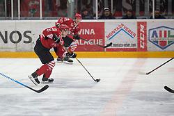CHVATAL Aljaz of HDD SIJ Jesenice during Alps League Ice Hockey match between HDD SIJ Jesenice and HK SZ Olimpija on December 20, 2019 in Ice Arena Podmezakla, Jesenice, Slovenia. Photo by Peter Podobnik / Sportida