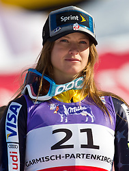 08.02.2011, Kandahar, Garmisch Partenkirchen, GER, FIS Alpin Ski WM 2011, GAP, Lady Super G, im Bild zweite Julia MANCUSO (USA) // Julia MANCUSO (USA) second Place during Women Super G, Fis Alpine Ski World Championships in Garmisch Partenkirchen, Germany on 8/2/2011, 2011, EXPA Pictures © 2011, PhotoCredit: EXPA/ J. Feichter