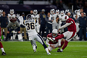 Arizona Cardinals field goal is kicked wide during the International Series match between Arizona Cardinals and Los Angeles Rams at Twickenham, Richmond, United Kingdom on 22 October 2017. Photo by Jason Brown.
