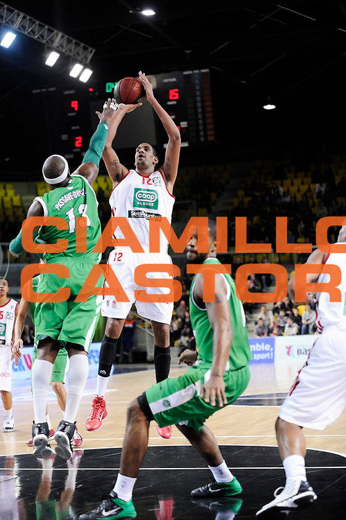 DESCRIZIONE : Championnat de France Pro a Strasbourg<br /> GIOCATORE : Ajinca Alexis <br /> SQUADRA : Strasbourg <br /> EVENTO : Pro a <br /> GARA : Strasbourg Nanterre<br /> DATA :14/01/2012<br /> CATEGORIA : Basketball France Homme<br /> SPORT : Basketball<br /> AUTORE : JF Molliere<br /> Galleria : France Basket 2011-2012 Action<br /> Fotonotizia : Championnat de France Basket Pro A<br /> Predefinita :