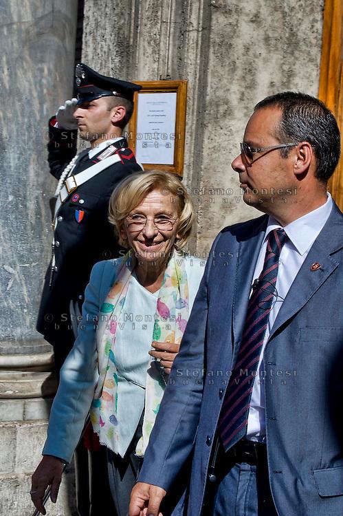 Roma 2 Ottobre 2013<br /> Il ministro degli Esteri Emma Bonino, lascia il Senato dopo il voto di fiducia<br /> Foreign Minister Emma Bonino  leaves  the Upper House after  the confidence vote